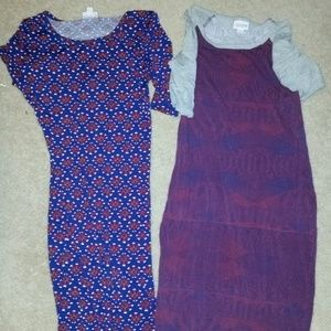 Two LuLaRoe Julia dresses